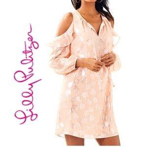 Lilly Pulitzer Marlyse silk dress Sandstone NWT